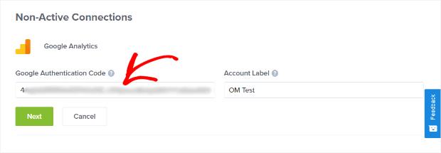 Account Label on Google analytics