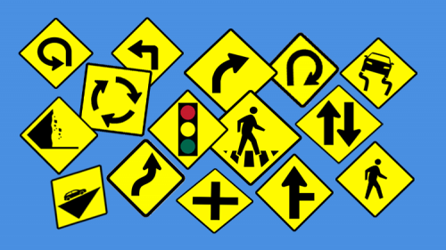 rambu lalu lintas berbentuk belah ketupat