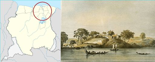 Jodensavanne sekitar tahun 1830 Pengasingan Douwes Dekker di Suriname