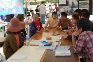 戦争法廃止・沖縄新基地建設阻止交流会の様子