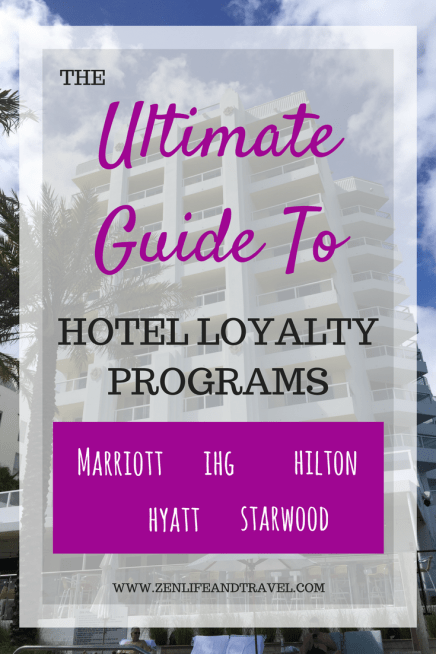 The Ultimate Guide To Hotel Loyalty Programs. This simple guide will show you how to earn and use points with Marriott, Hyatt, Hilton, Starwood and IHG hotels. You will also learn about the benefits of each program's Elite status and how to get it.