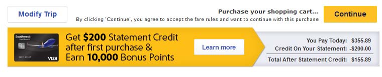 Which Southwest Credit Card Offer Is Better? I'm comparing this offer I received at checkout to the standard offer for this card.