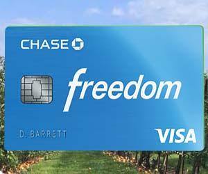 Chase Freedom 5% Cash Back Bonus Categories