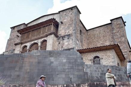 Qurikancha with Convent of Santo Domingo above