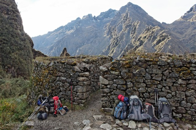 Packs on the Inca Trail