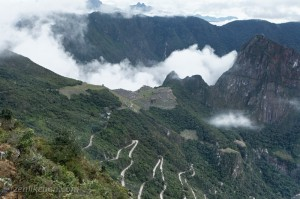Heading down towards Machu Picchu