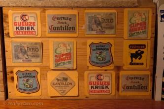 Old Cantillon beer mats