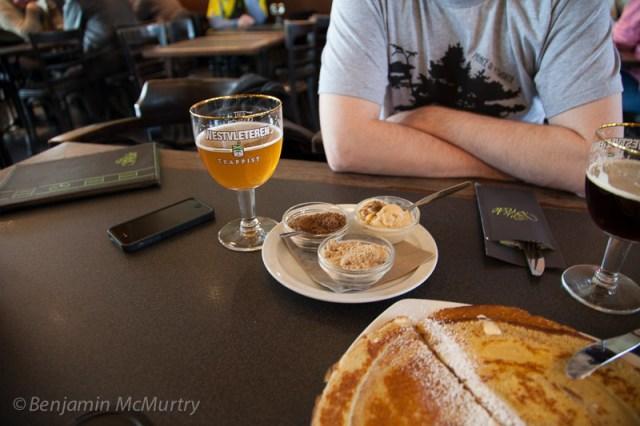 Smartphone on the table - Westvleteren, Belgium