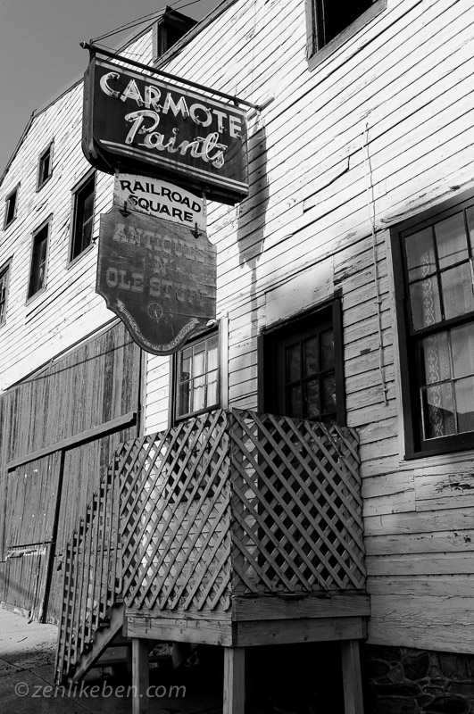 Rusted Sign in Brunswick, Maryland