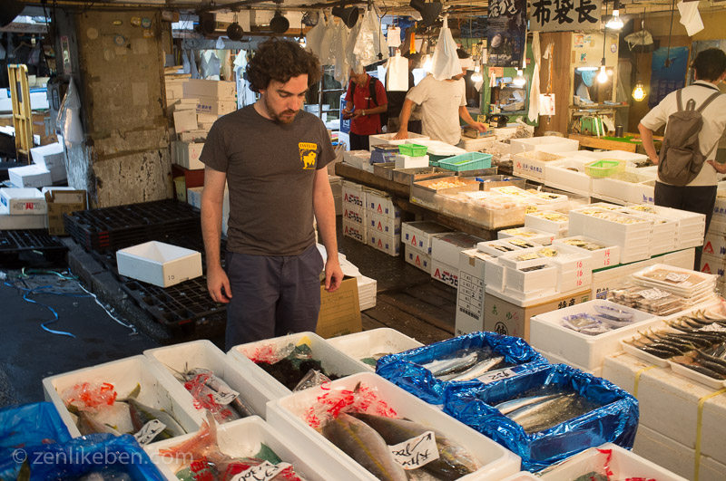 Trying to figure out things at the Tokyo Fish Market