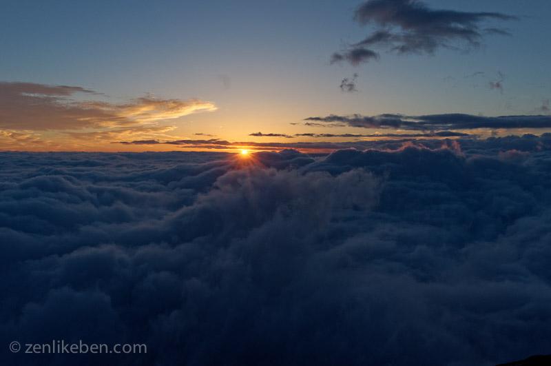 Sunrise from Mount Fuji