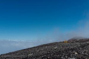 The top of Mount Fuji