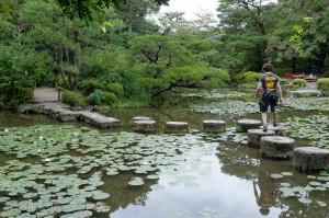The stepping stones in Heian-jingu garden
