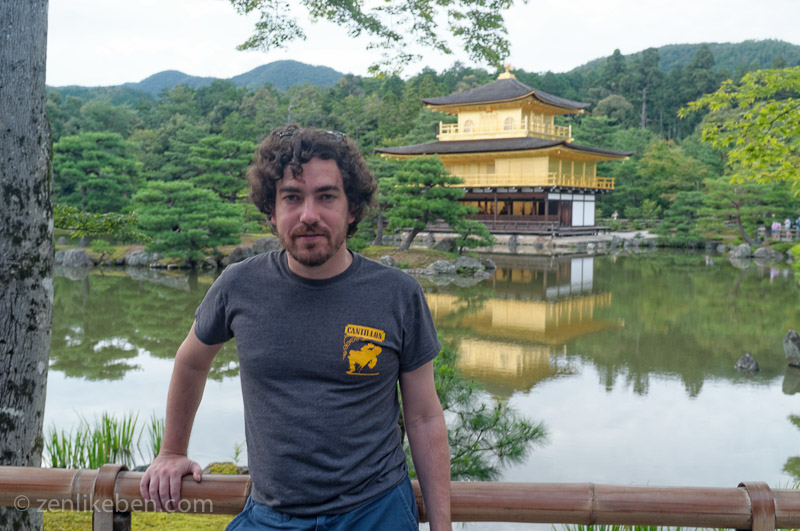 Me in front of the Golden Pavilion of Kinkaku-Ji in Kyoto