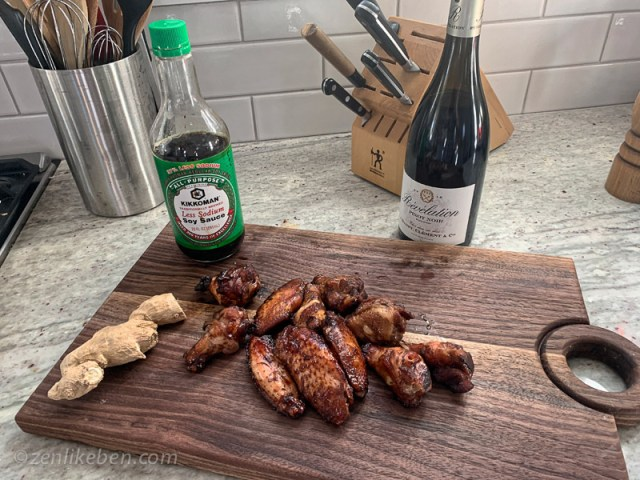 Tar Pit Wings on the Green Egg