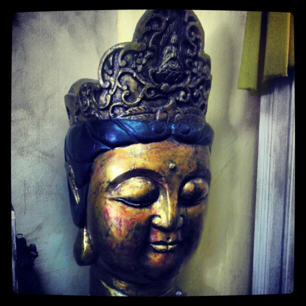 Buddha Girl Wooden head