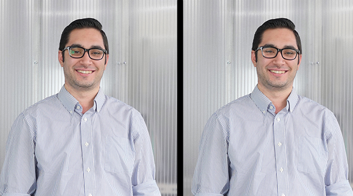 before after glasses tutorial