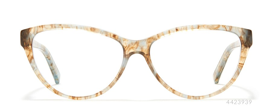 speckled cat eye glasses