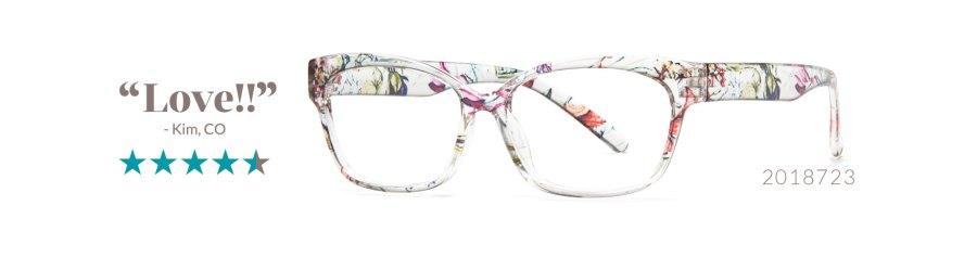 floral glasses trend