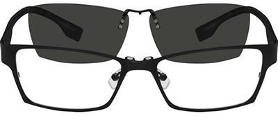 gray frames with gray sunshade