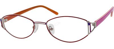 pink and orange titanium glasses