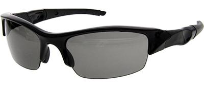 black sunglasses with grey lenses