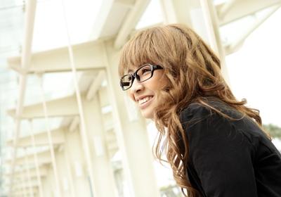 hairdo with glasses