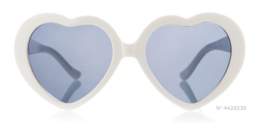 White Heart Shaped Sunglasses