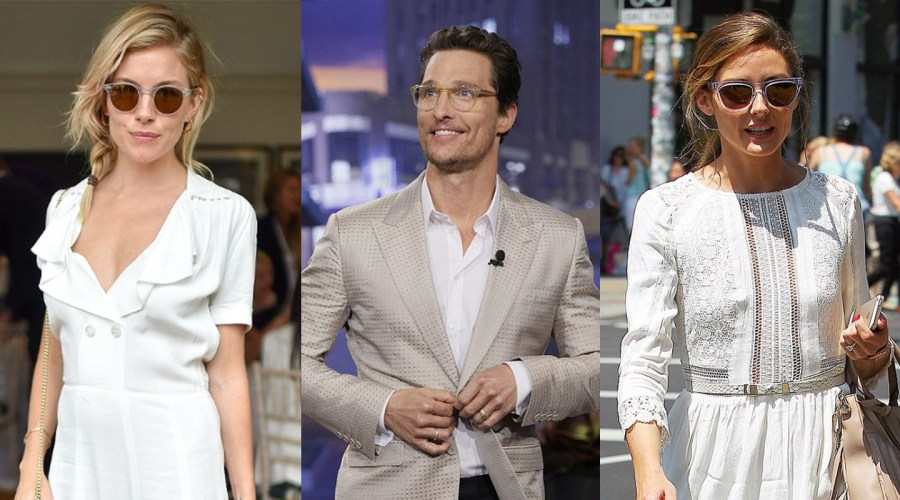 Olivia Palermo, Sienna Miller, and Matthew McConaughey with Clear Glasses