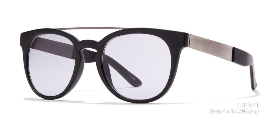 black browbar aviator sunglasses