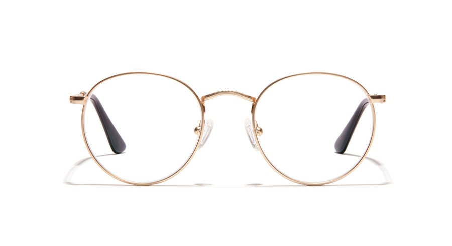 gold aviator wedding glasses