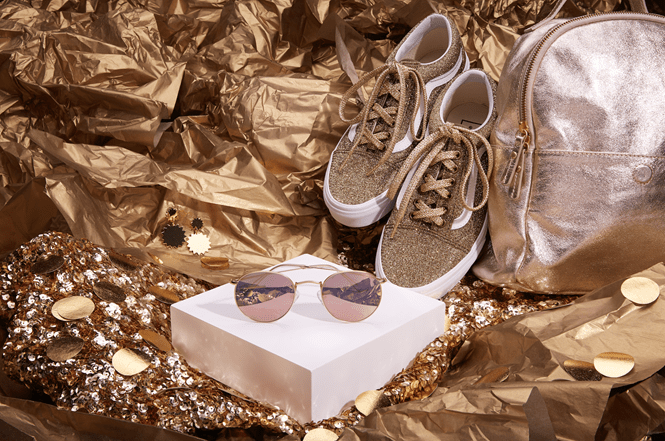 gold zenni frames and shoes