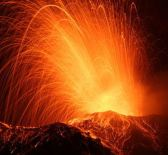 Volcano erupting as Earth releases her lower energies