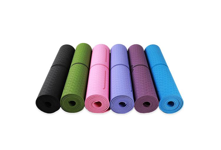 tapis de yoga antiderapant avec alignement