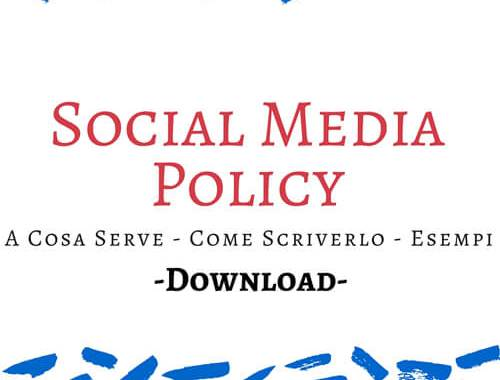 social media policy a cosa serve come scriverlo esempi