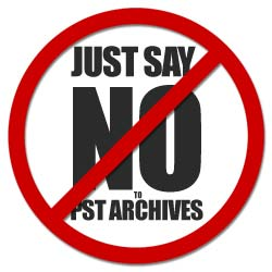 .PST archive say no