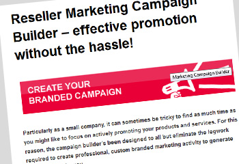 Reseller Marketing Campaign Builder Screenshot