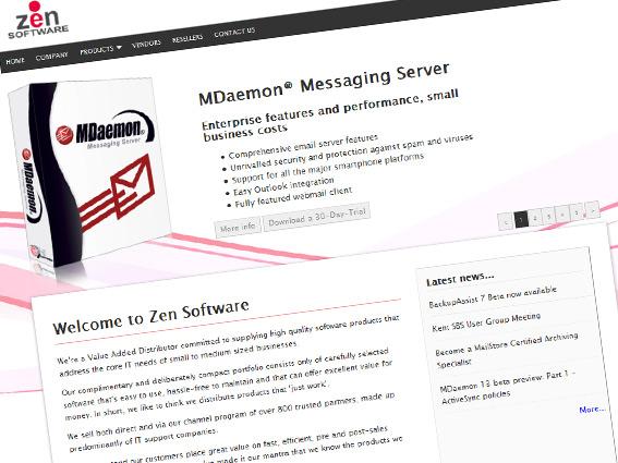 New Web site screenshot