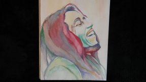 Bob Marley akvarell portré