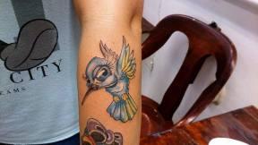 kolibri tetoválás