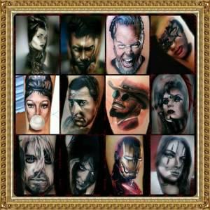 realisztikus tetoválás