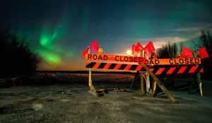Dettah Ice Road Aurora