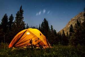 Tent at Three Isle Campground