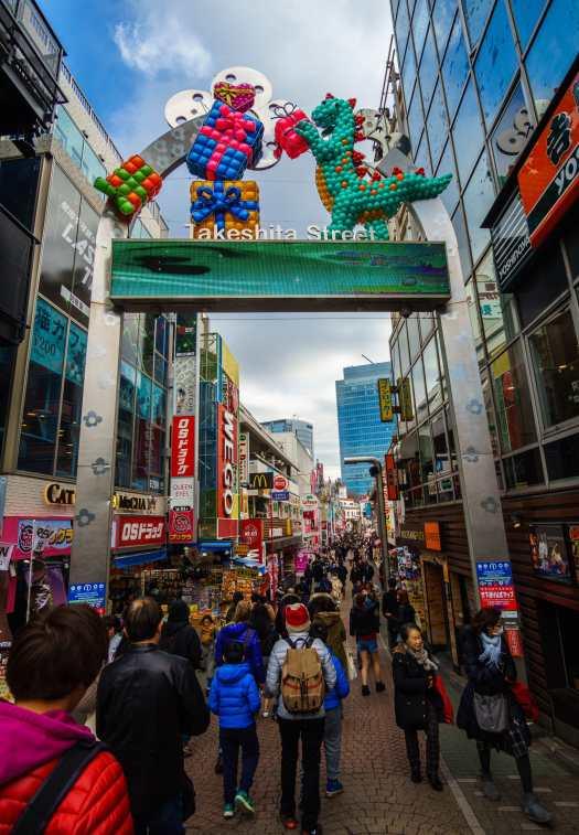 Crowds at Takeshita Street, Harajuku