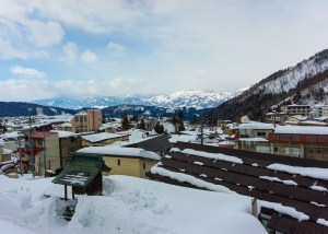 Looking over the townsite of Nozawa Onsen