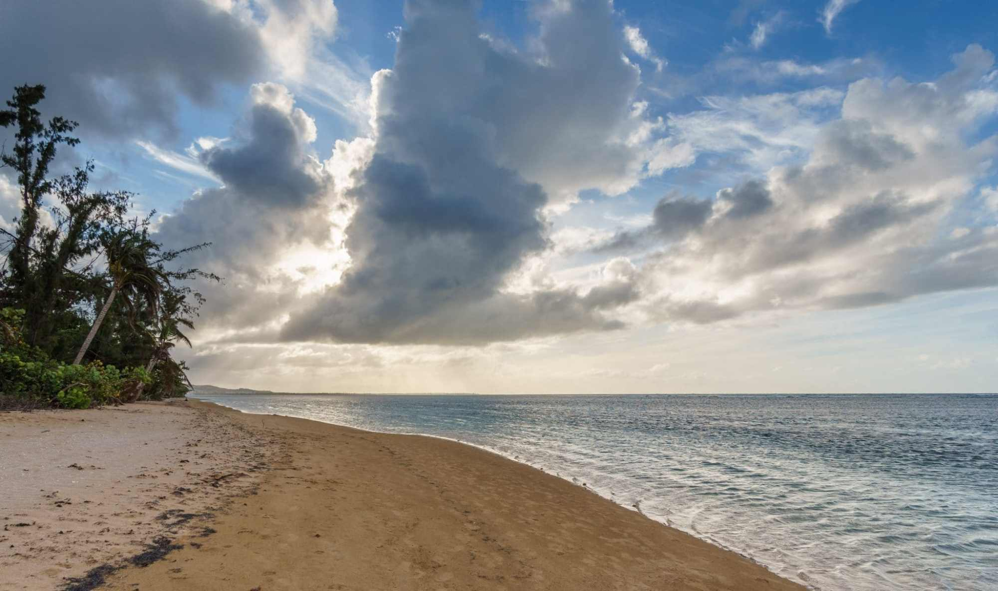 Beach in Luquillo Puerto Rico