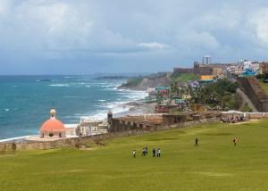 Old San Juan's coastline from Castillo San Felipe del Morro