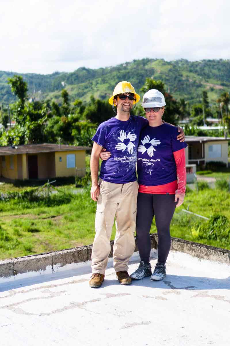 Zentravellers on a roof in Puerto Rico with All Hands