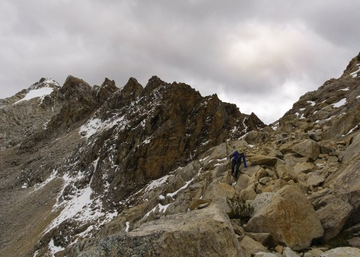 Scrambling on the Akilpo Ishinca Trek