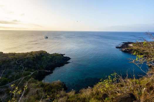 Cruise Boat Docked off San Cristobal, Galapagos Islands